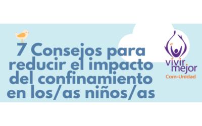 7 consejos para reducir el impacto del confinamiento en los/as niños/as